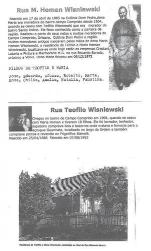 Ruas do Bairro Campo Comprido e suas Origens 1904