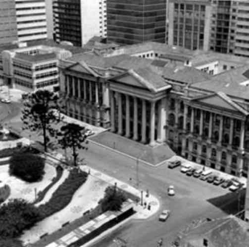 Praça Santos Andrade em 1975