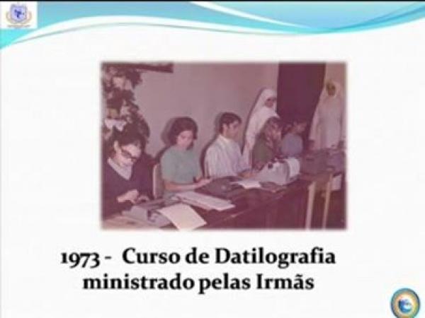 Curso de datilografia 1973 ministrado por Freiras do Colégio Estadual Santa Candida.